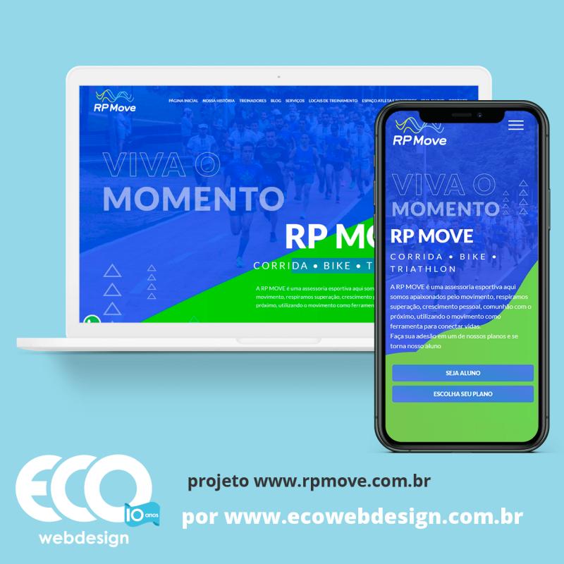 Imagem de Acesse <a href='https://rpmove.com.br/'  target='_blank'>   https://rpmove.com.br  </a> • Site institucional para empresa de assessoria esportiva de Rio Preto e região. - RP Move