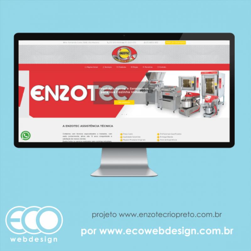 Imagem de Acesse <a href='http://www.enzotecriopreto.com.br/' target='_blank'> https://www.enzotecriopreto.com.br</a> • Site institucional para empresa de manutenção de máquinas gastronômicas industriais - Enzotec Assistência Técnica.