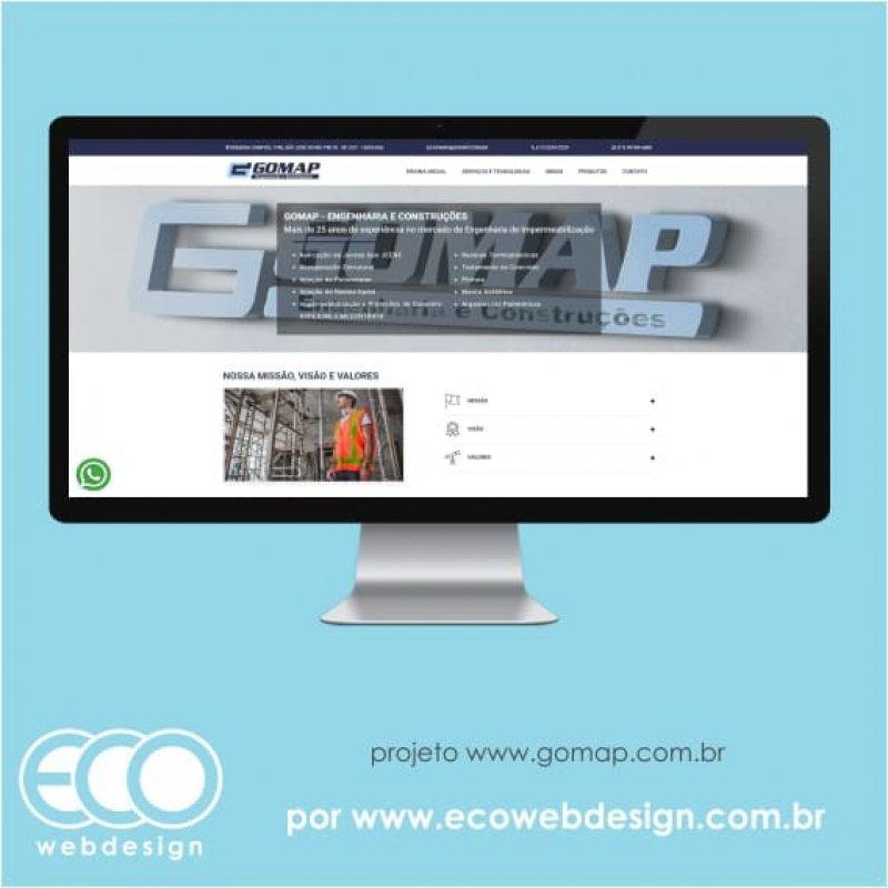 Imagem de Acesse <a href='http://www.gomap.com.br/' target='_blank'> https://www.gomap.com.br</a> • Site institucional para empresa que oferecere serviços e produtos no mercado de engenharia civil - Gomap.