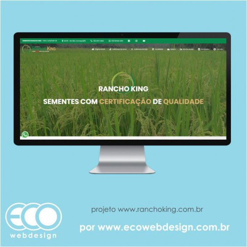 Imagem de Acesse <a href='https://www.ranchoking.com.br' target='_blank'> https://www.ranchoking.com.br</a> • Site institucional para empresa de comércio de sementes de arroz e soja - Rancho King