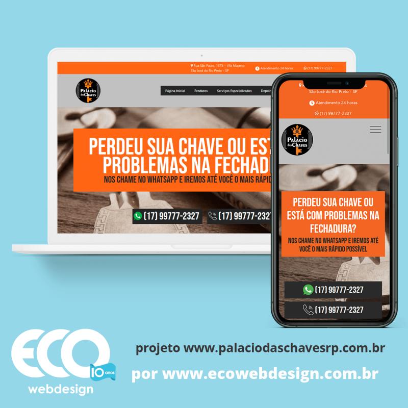 Imagem de Acesse <a href='https://www.palaciodaschavesrp.com.br/'  target='_blank'>   https://www.palaciodaschavesrp.com.br  </a> • Site institucional para empresa que oferece serviços de chaveiro. - Palácio das Chaves