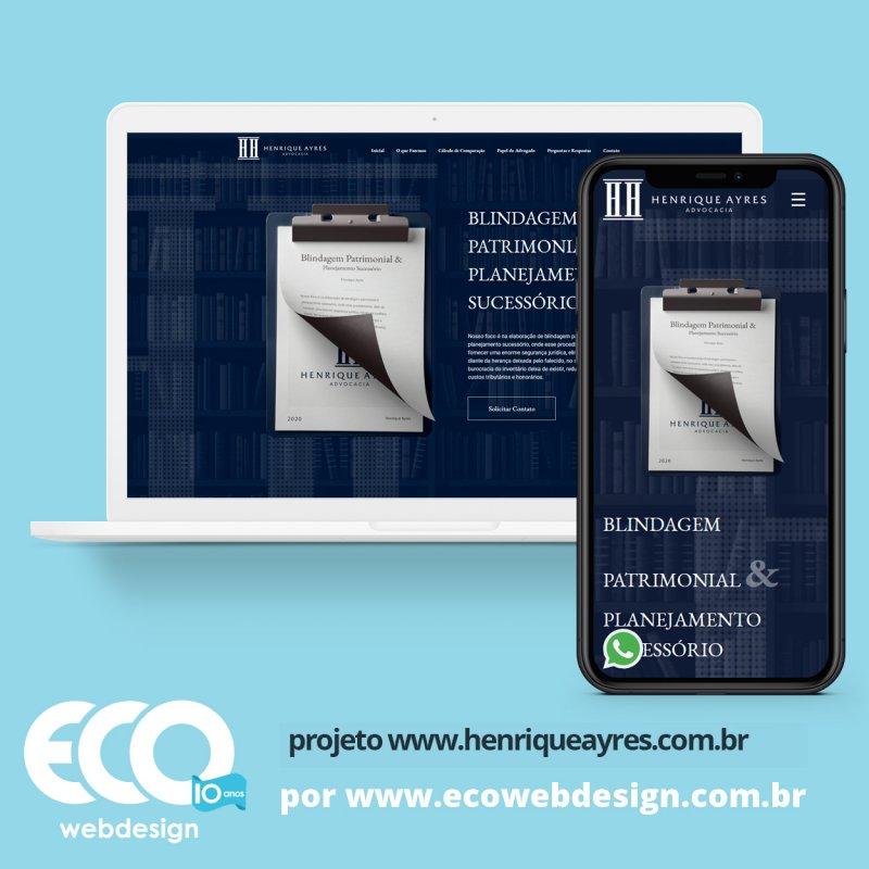 Imagem de Acesse <a href='https://www.henriqueayres.com.br/'  target='_blank'>   https://www.henriqueayres.com.br  </a> • Site institucional para empresa de Advocacia. - Henrique Ayres