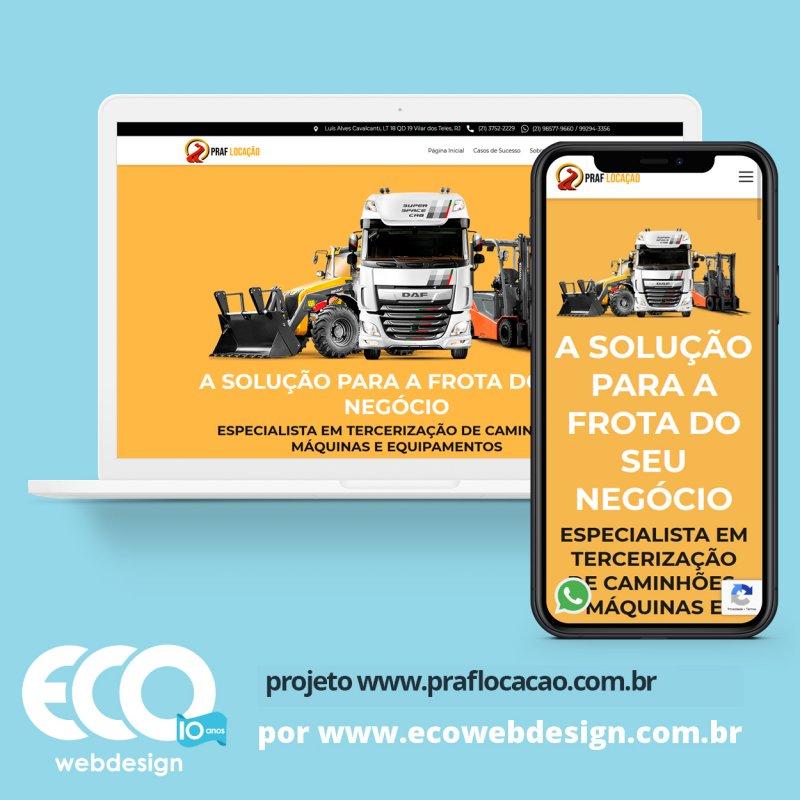 Imagem de Acesse <a href='https://www.praflocacao.com.br/'  target='_blank'>   https://www.praflocacao.com.br/  </a> • Site institucional para empresa especializada em locação de veículos e equipamentos. - Praf Locação