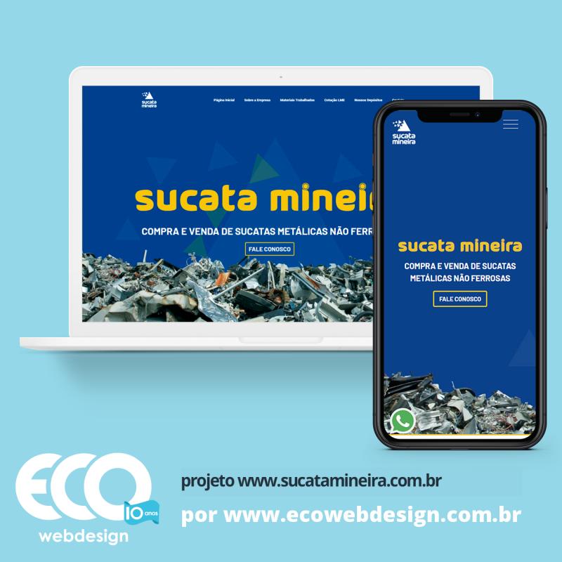 Imagem de Acesse <a href='https://www.sucatamineira.com.br/'  target='_blank'> https://www.sucatamineira.com.br  </a> • Site institucional para empresa especializada em reciclagem de sucata - Sucata Mineira