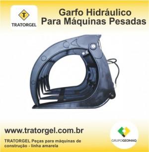 Garfo hidráulico para máquinas pesadas é na TRATORGEL