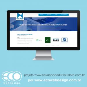 8813a5e827c Imagem de • Website institucional mais catalogo de produtos • Nova Opção  Distribuidora de Papelaria -