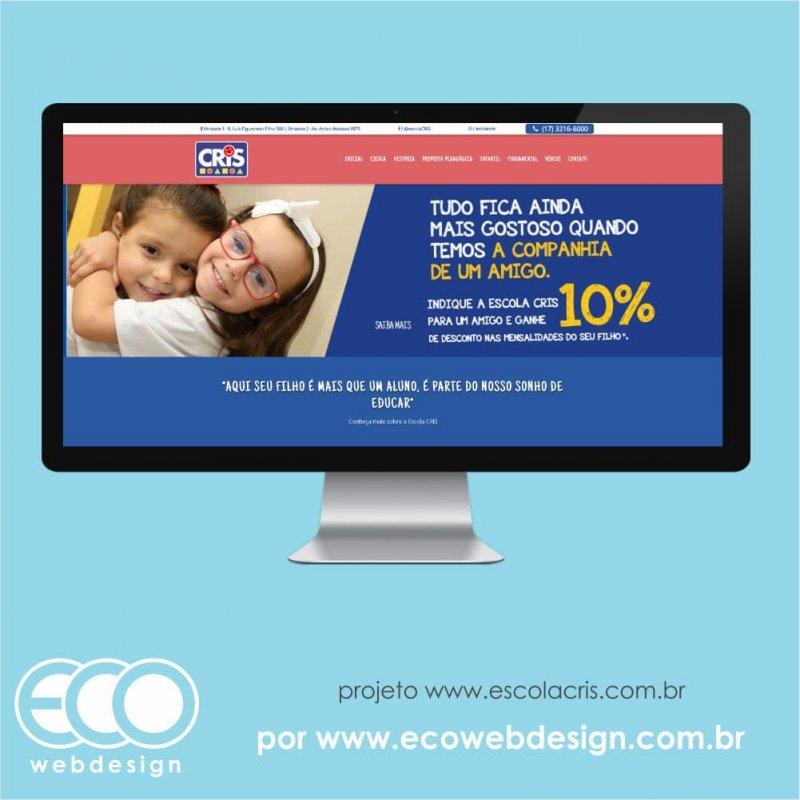 Imagem de Acesse <a href='https://www.escolacris.com.br/' target='_blank'> https://www.escolacris.com.br/ </a> • Website Institucional da • Escola CRIS • Educação Infantil e Fundamental.