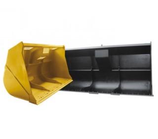 Caçamba carregadeira de bagaço para máquinas pesadas